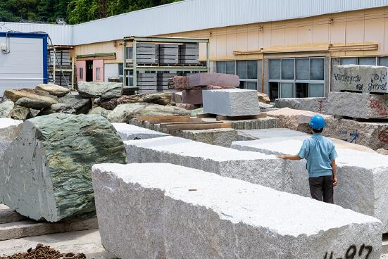 原石資材置き場