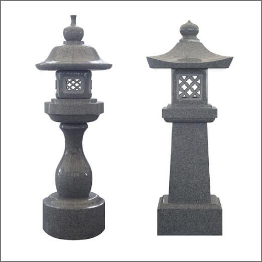 墓前灯籠 一対(丸・角)
